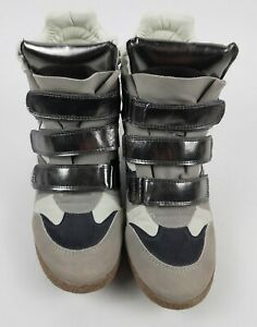 High-Top-Hidden-3-034-Wedge-Sneaker-Xhilaration-034-marant-034-Grey-Silver-Size-8-Shoe