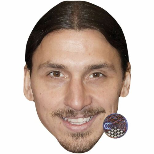 Card Face and Fancy Dress Mask Zlatan Ibrahimovic Celebrity Mask