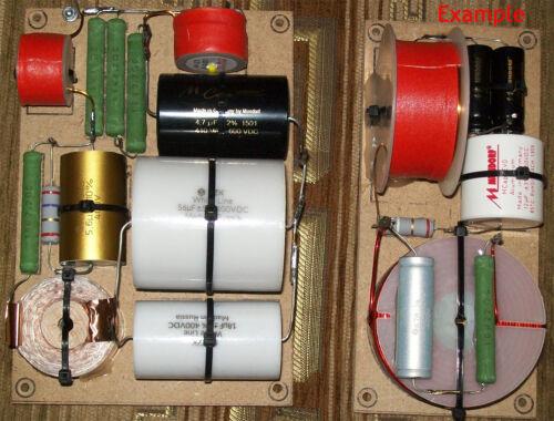 KZK White Line 3.6uF 400V 2pc Capacitors for Home /& Car Audio Speaker Crossovers