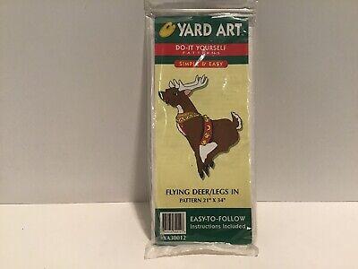 VTG 1998 Wood Yard Art Do-It-Yourself Christmas Wooden Cut Out Pattern REINDEER   eBay