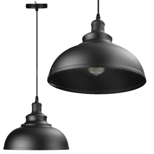 Vintage Industrial E27 Ceiling Light Lampshade Modern Retro Hanging Pendant Lamp