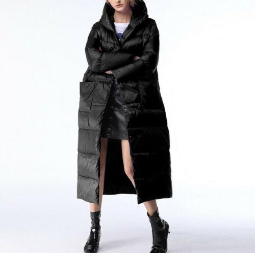 Long Women/'s Down Outwear Parka Winter Lightweight Warm Hooded Loose Snow Coat L