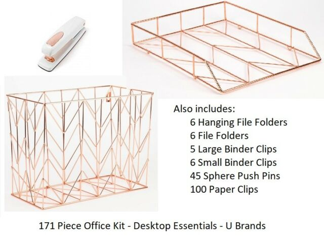 U Brands Desktop Essentials Kit Rose Gold 171 Pieces 2369u00-01 for sale online