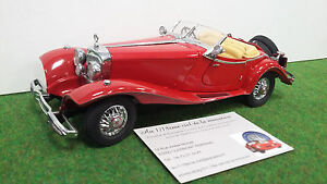 Mercedes 500 K Special Roadster Franklin Mint 1/24 Voiture Miniature Collection