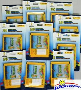 50-2014-Panini-World-Cup-Bresil-Factory-Sealed-Sticker-Packs-350-stickers