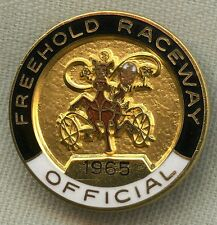 Low Numbered 1965 Freehold Raceway Track Official Badge
