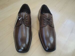 Details About Vanheusen Blaine Brown Leather Mens Dress Shoes With Laces Size 8 Med 7999