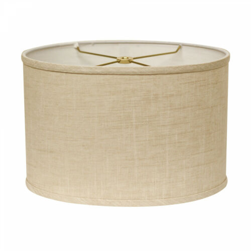 Cloth And Wire Slant Retro Oval Hardback Lampshade With Washer Fitter Stonewash