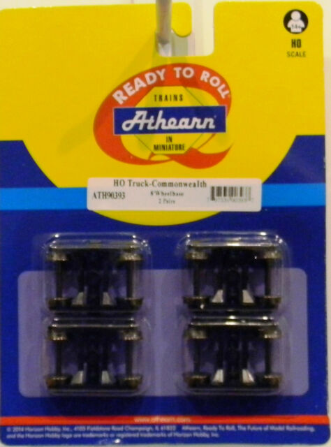 """Athearn HO Trucks Bettendorf with 33/"""" Metal Wheels 2 Pack # 90400"""