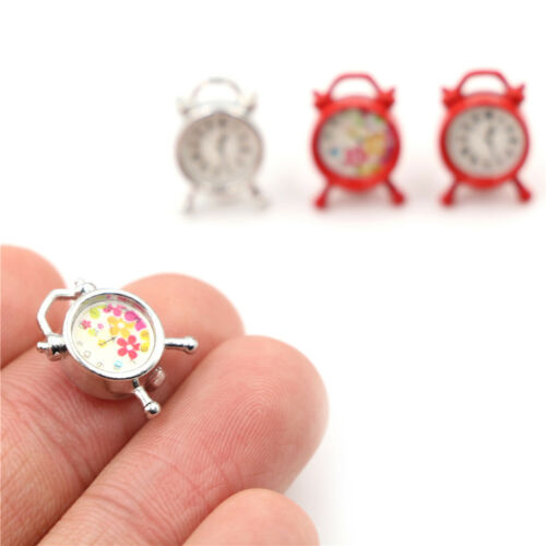 Dollhouse Miniature Model Mini Alarm Clock 1//12 Dollhouse Living Room Decor GF
