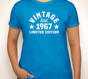 Image Is Loading VINTAGE EST 1967 Or Any Year Happy 50th