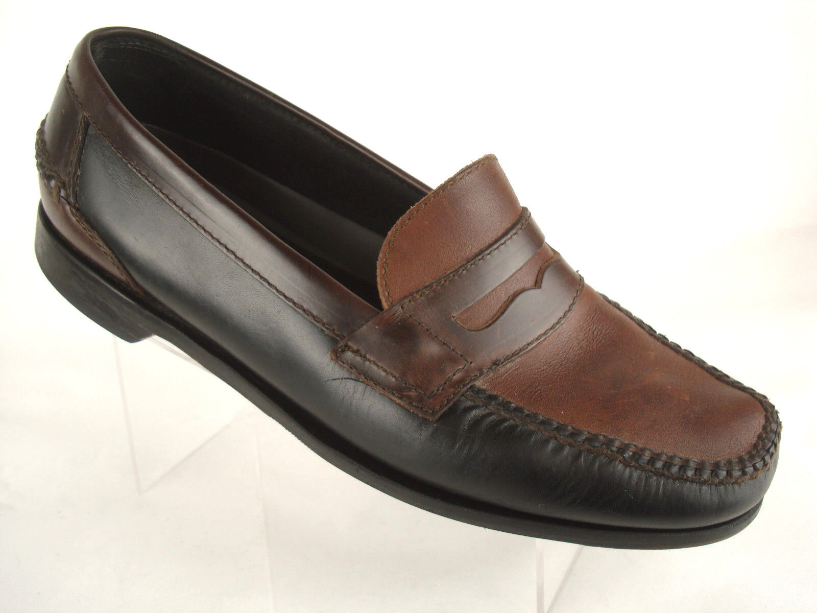 Johnston Murphy Passport Leather Penny Loafer Two-Tone Brown Mens Sz 11M