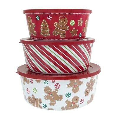Nicholas Square Warm Wishes Nesting 3 Pc Bowl Set Hand Painted St