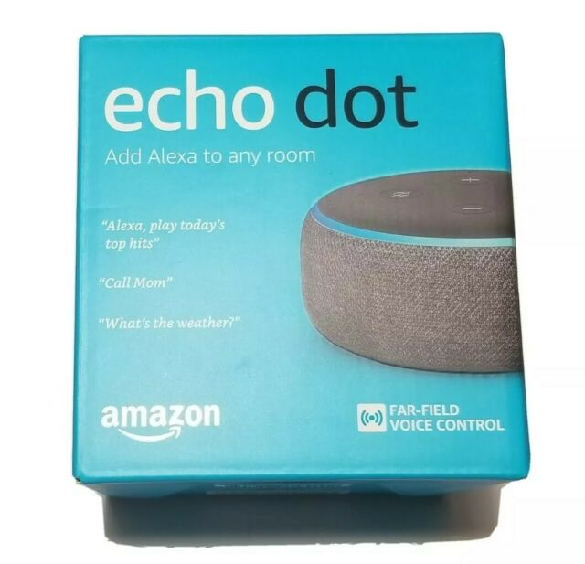 Brand New Amazon Echo Dot (3rd Generation) Smart Speaker - Charcoal
