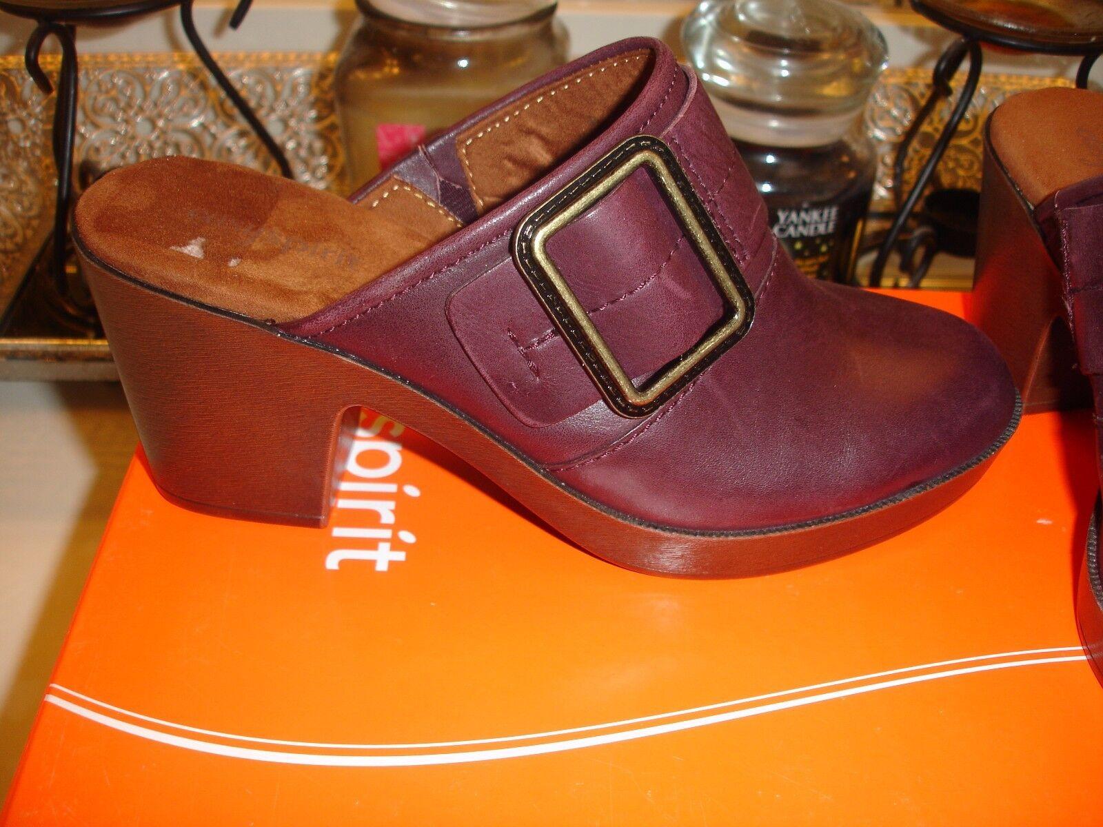 Easy Spirit Easyspirit Harvina Wine Mule Wine Harvina Leder fun shoe quality Nice 89 18569d