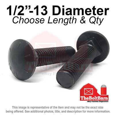 1//2-13 X 3 125 pcs Plow Bolts #3 Head Full Thread Flat Head Yellow Zinc Grade 5 Steel