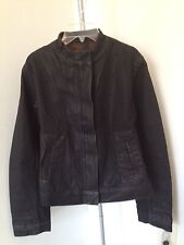 New Rick Owens Slab WFO6022 Black Wax Coated Denim jacket jeans sz m