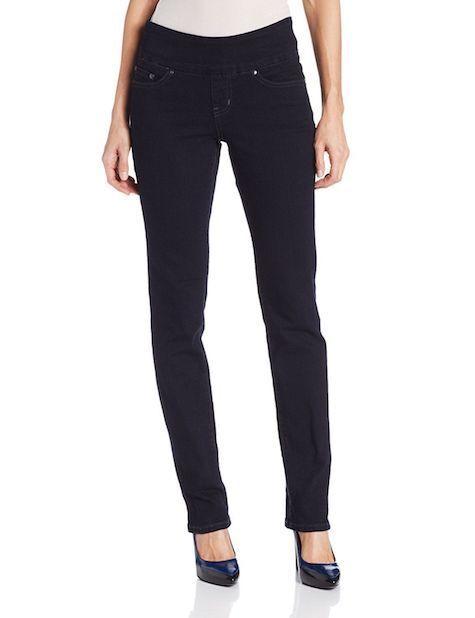 JAG Jeans Women's Peri Pull-on High Rise Straight Leg Jean After Midnight sz 2