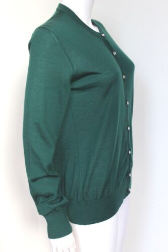 Gabbana Det Dolce Green Uk Crystal Cashmere Forest 40 8 Cardigan Button fZdWqH