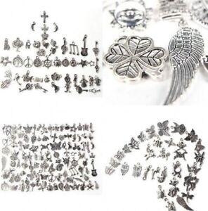 Wholesale-100pcs-Retro-Silver-Charm-Tibetan-Pendants-Mixed-in-BULK-Jewelry-DIY