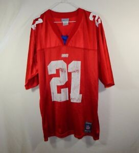 Tiki Barber New York Giants NFL Football Jersey Red Reebok Size ... c85823277