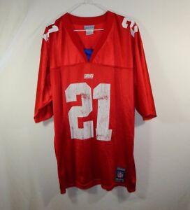 b6a79fec8 Tiki Barber New York Giants NFL Football Jersey Red Reebok Size ...