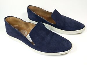 Eminence-Navy-Suede-Leather-Slip-On-Trainers-Uk-3-5-Eu-36