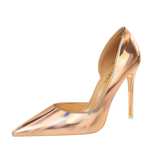 Details about  /Women/'s Classic Pumps Pointed Toe Shallow Cut-out Stiletto High Heel Party Shoes