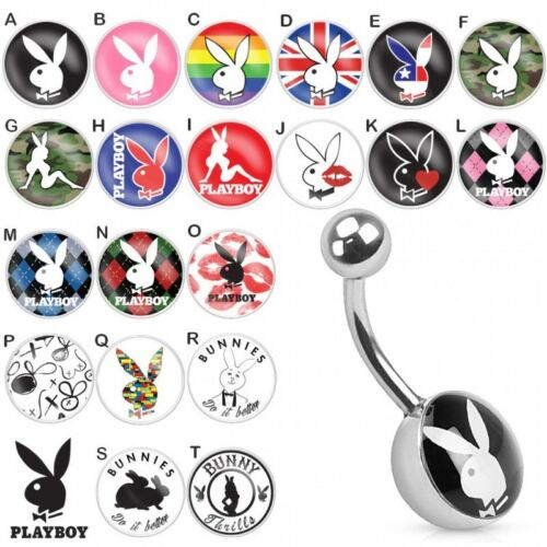 Details about  /Piercing Navel Logo Playboy