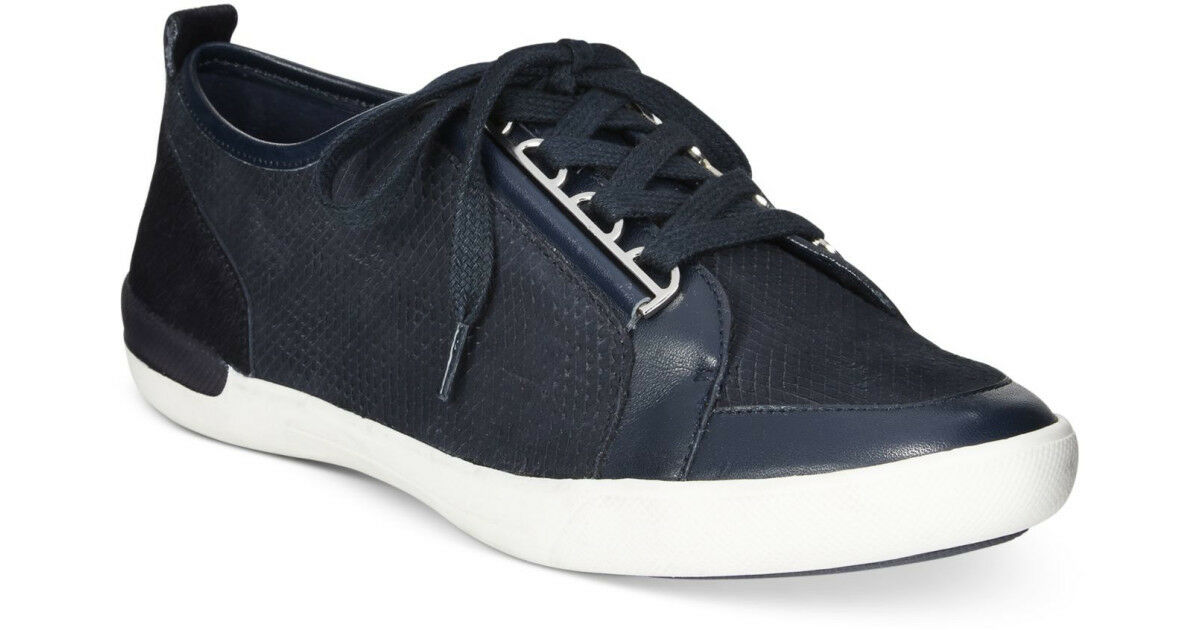 Calvin Klein Sneakers Shoes Tanita Cow Silk Fashion Sneakers Navy 9.5M