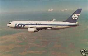 LOT POLISH AIRLINES BOEING 767-200 ER AIRLINE ISSUED POSTCARD