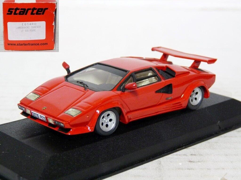 Starter E014RO 1 43 1987 LAMBORGHINI COUNTACH LP500 Resin Handmade Voiture Modèle