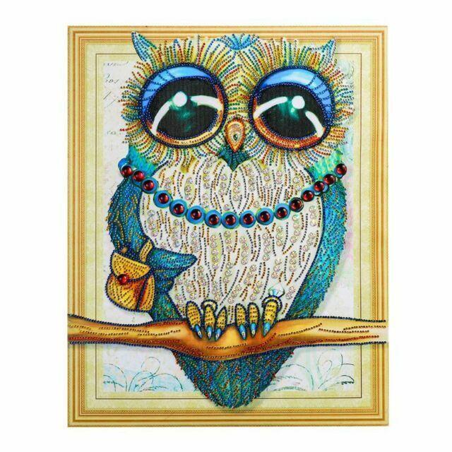 Difcuy DIY Diamond Paintings,Fashion Craft Decor Owl Animal Cross Stitch Embroidery 5D Diamond Home Decor 30x40cmPainting