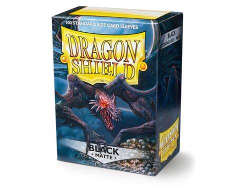 Dragon Shield Standard Size Card matte Sleeves Black Magic Pokemon 100ct box
