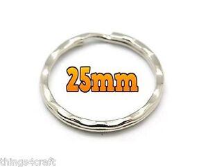 25mm-anelli-brise-CHIAVE-PORTACHIAVI-ROUND-ANELLO-PORTACHIAVI-CHIAVI-Fibbia