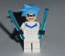 BATMAN #14C Lego Arctic Nightwing w/battle bars (Blue hair) Genuine Lego Parts