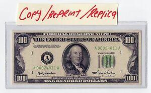 Novelty 100 dollar bill reprintreplica ebay image is loading novelty 100 dollar bill reprint replica voltagebd Choice Image