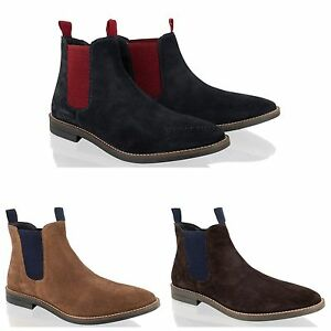 New-Mens-Suede-Leather-Chelsea-Dealer-Smart-Dress-Ankle-Boots-Shoes-Size-7-12