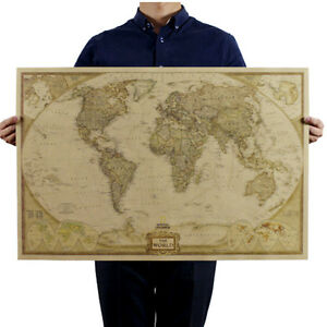 image is loading 2018 vintage retro world map antique paper poster