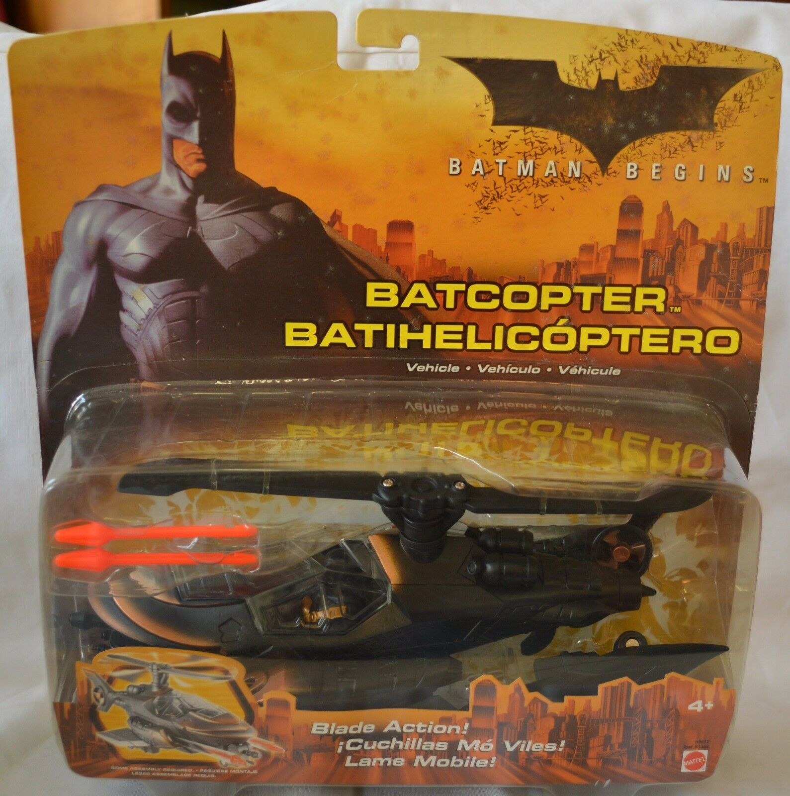 NEW Batman Begins Action Figure BATCOPTER Vehicle COLLECT 4+ Blade ACTION 2005