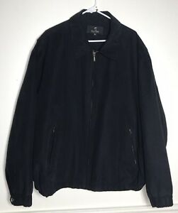 Gary-Player-Black-Faux-Suede-Microfiber-Golf-Jacket-Black-Men-039-s-Size-3XL