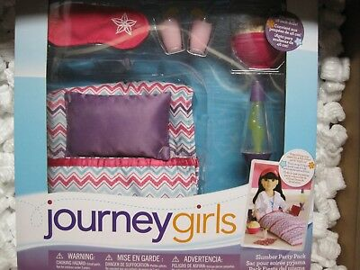 GIRLS PARTY JOURNEY IN PURPLE NEW BOX DOLL PACK PILLOW ACCESSORIES 18 SLUMBER Z7dUdfq