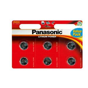 6x-Panasonic-CR2032-Lithium-Knopfzellen-Batterie-CR-2032-Batterien-Knopfzelle