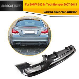 Fibra-De-Carbono-Difusor-De-Labios-De-Ajuste-De-Parachoques-trasero-Para-BMW-1-Series-E82-M-Sport