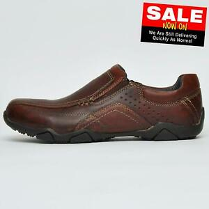 red tape derwent leather mens casual slip on loafer deck