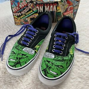 e071327b0c9f VANS Era Off the Wall Marvel Hulk Lace-Up Skate Sneakers Shoes Sz ...
