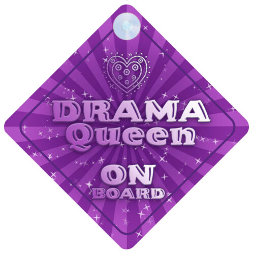 Drama Queen On Board Car Sign New Baby//Child Gift//Present