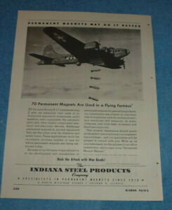 Antique 1944 Ad National Union Radio Tubes + Indiana Steel Products