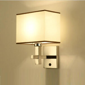 Modern Metal Wall Lights Bedroom Living Room Lamp With Switch Wall ...