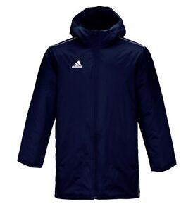 13bdd281033 Details about Adidas Men Core 18 Stadium Down Hood Padded Jacket Winter  Navy Parka Coat CV3747